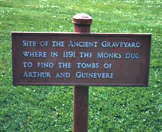 Arthur and Guinevere's Grave Glastonbury England May 1993